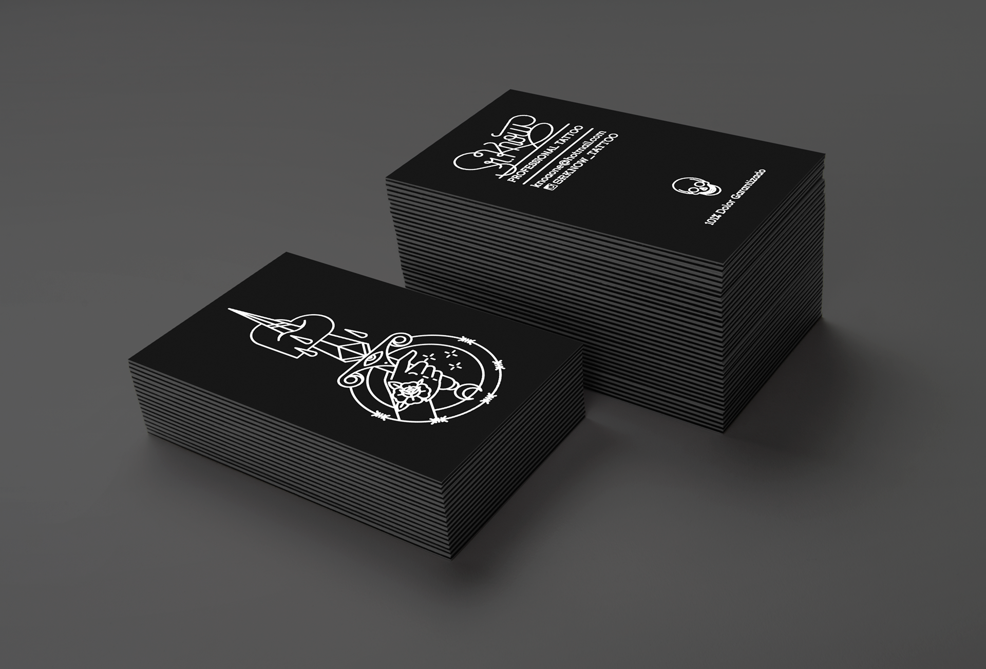 Bnomio graphic designer illustration lettering logo and business cards to sr know tattoo artist magicingreecefo Image collections