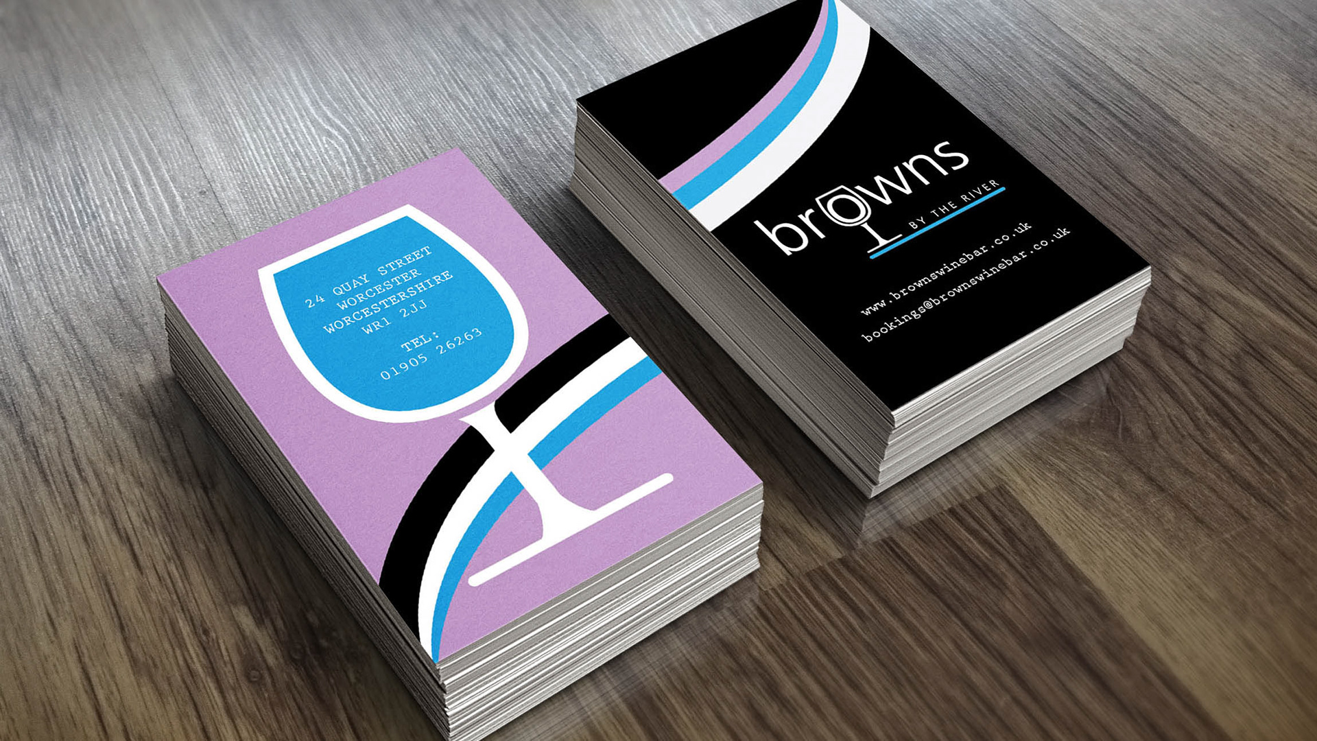 Lippett creative graphic design studio stationery business cards for browns bar worcester reheart Choice Image