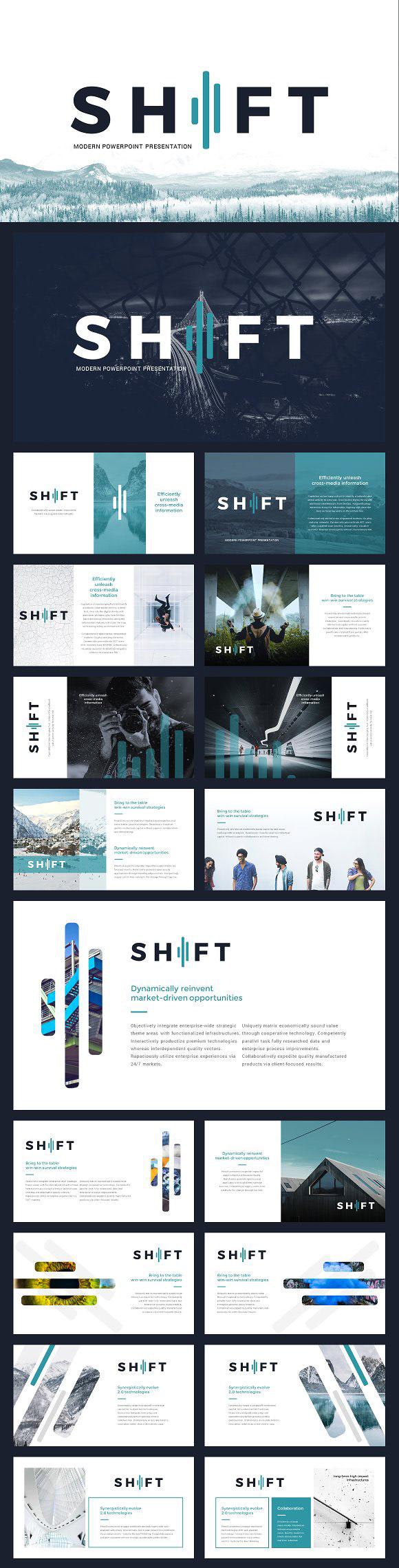 webdesign resources development shift modern powerpoint template