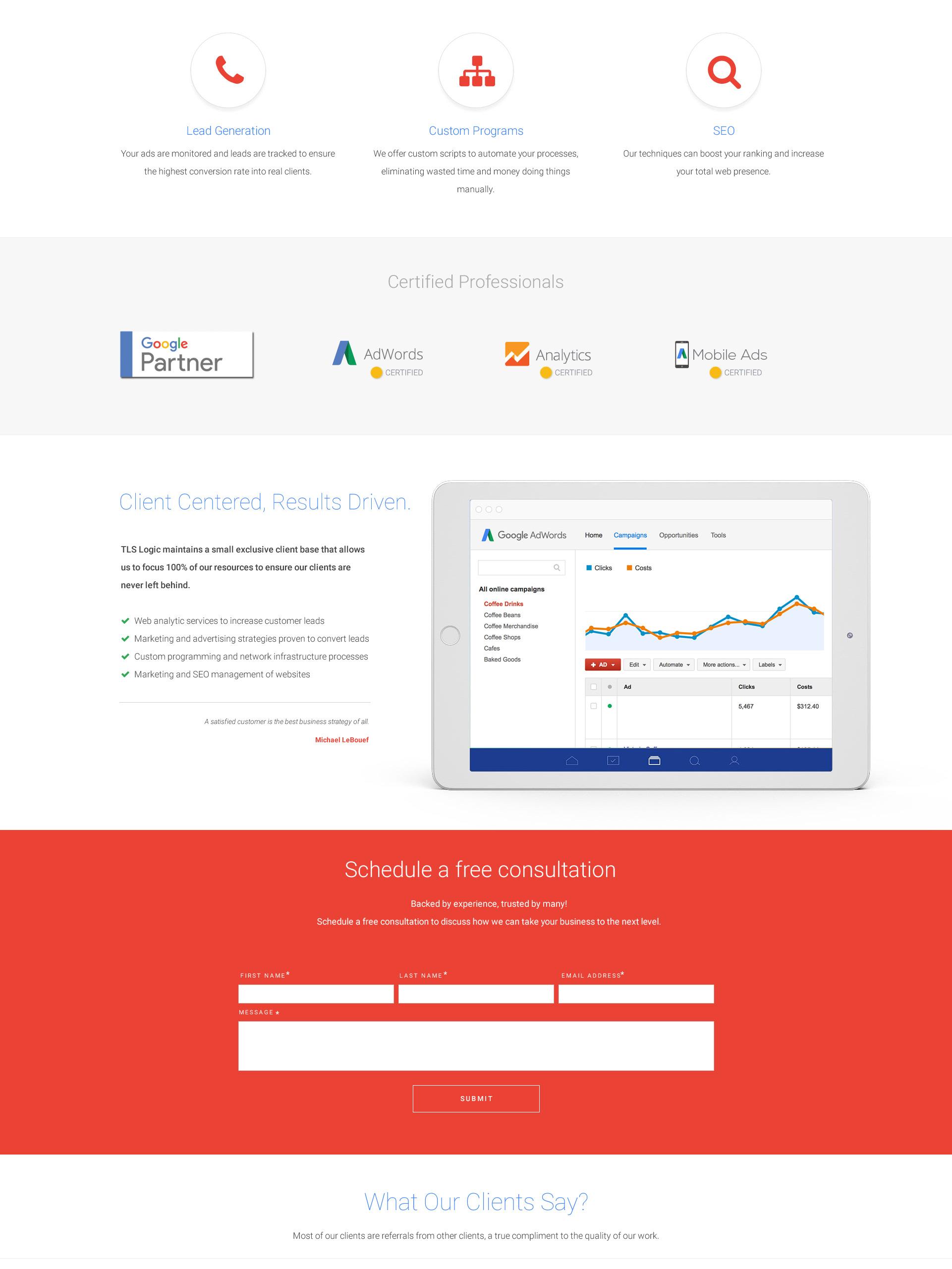 Glen Factor - Pumping Website Design Mockup