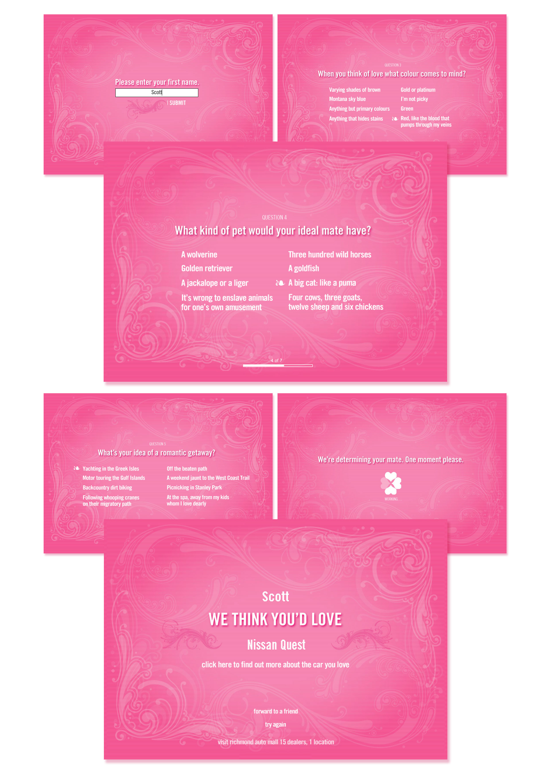 Uncategorized Love Calculator For Kids scott shymko associate creative directorad to extend its campaign find the car you love into digital space we created automolove calculator a cross between cosmo magazine survey