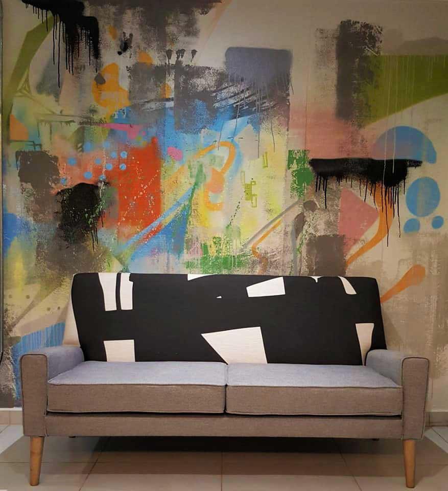 ZESTA Graffiti Street Artist Illustator Abstract Mural For - Artsy house numbers