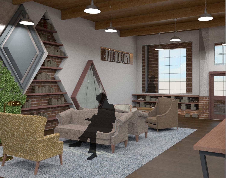 Emily Beck Design Portfolio - retail renovation
