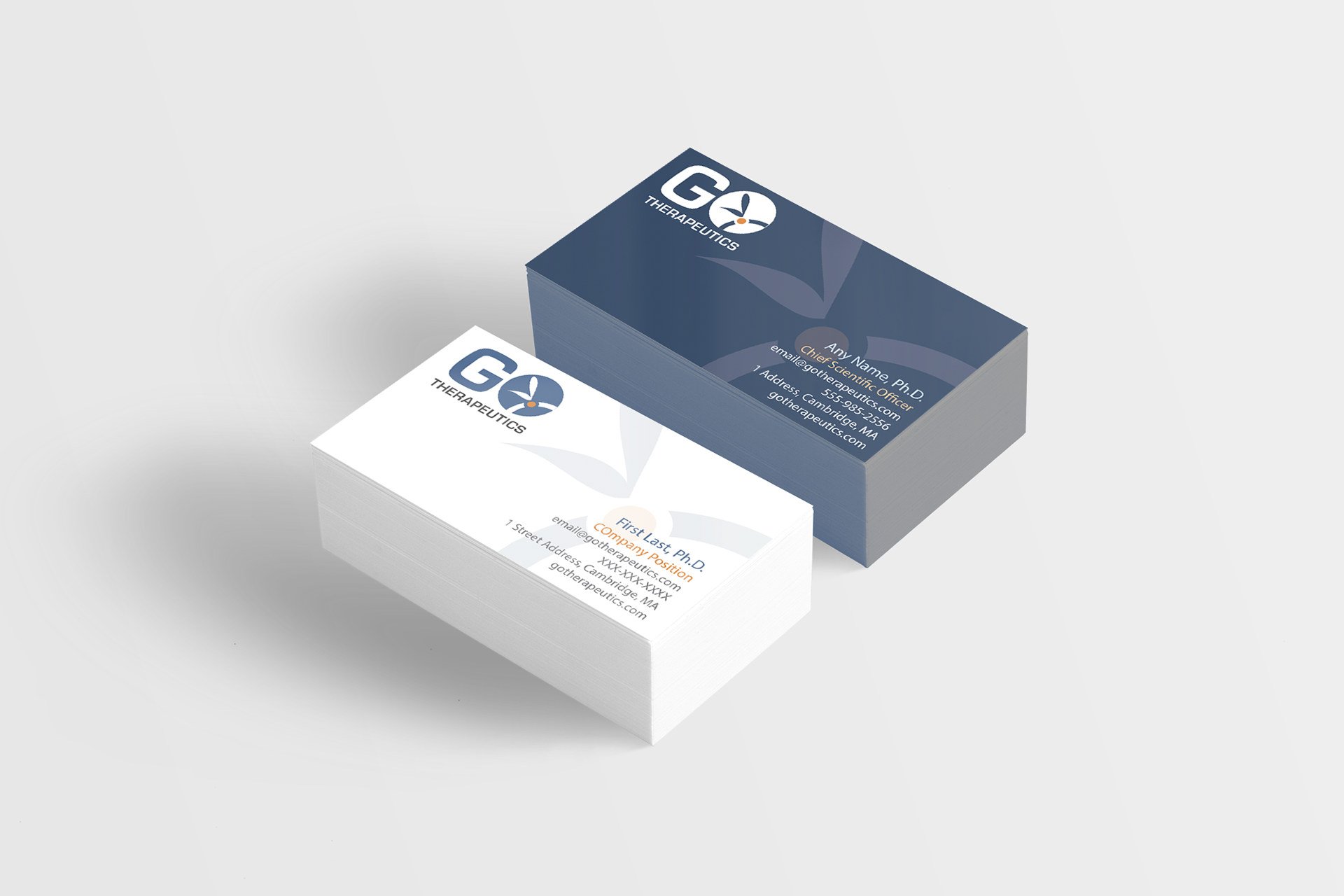 Diana Saville - GO Therapeutics Logo and Business Cards