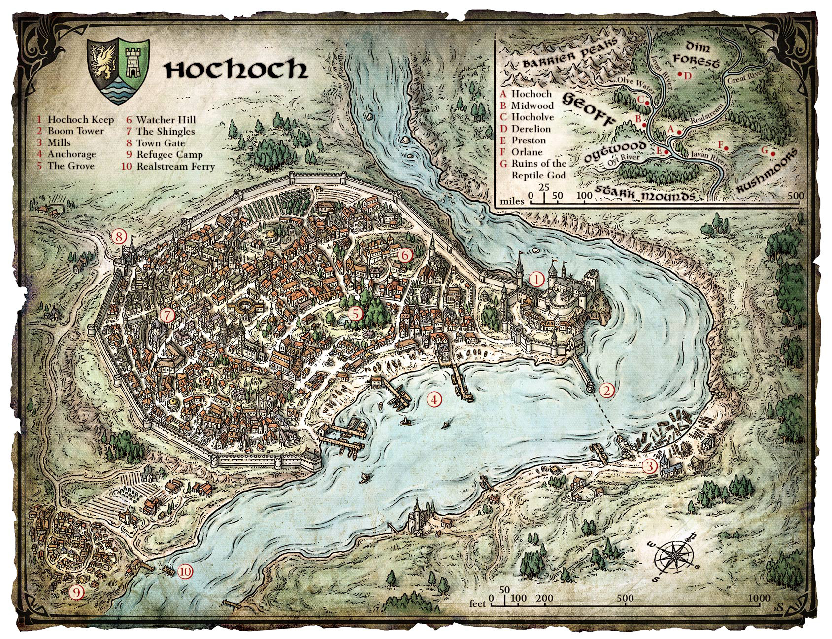 Mike Schley's Portfolio - Fictional City Maps