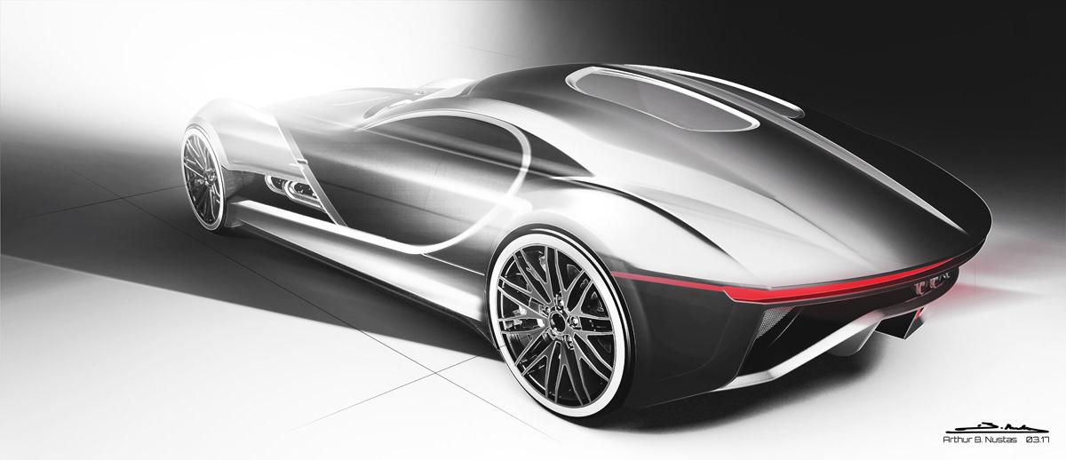 Arthur B Nustas Concept Design Bugatti Type 57 T
