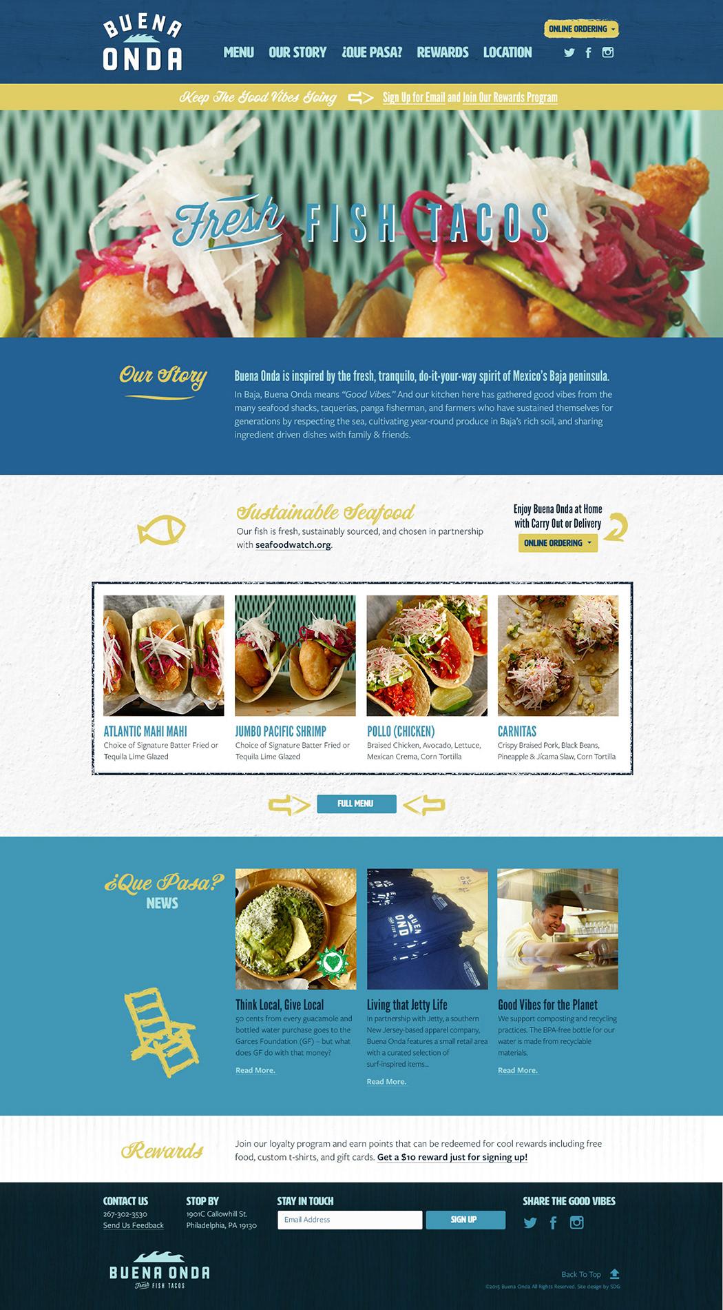 Jose Garcess Buena Onda Tacos Philadelphia PA Website Design Buenaondatacos