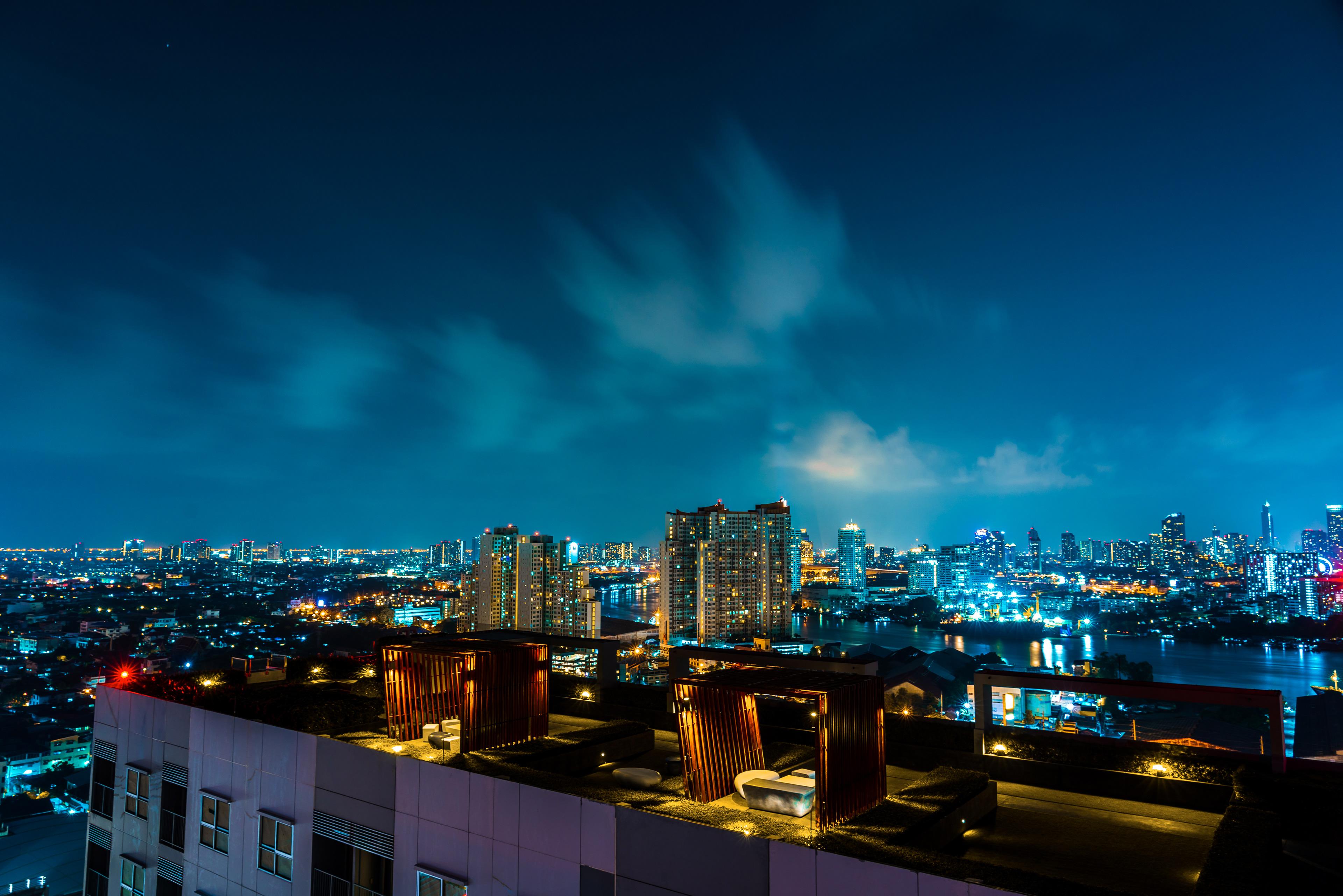 Картинки город ночь крыши, продуктами красивые для