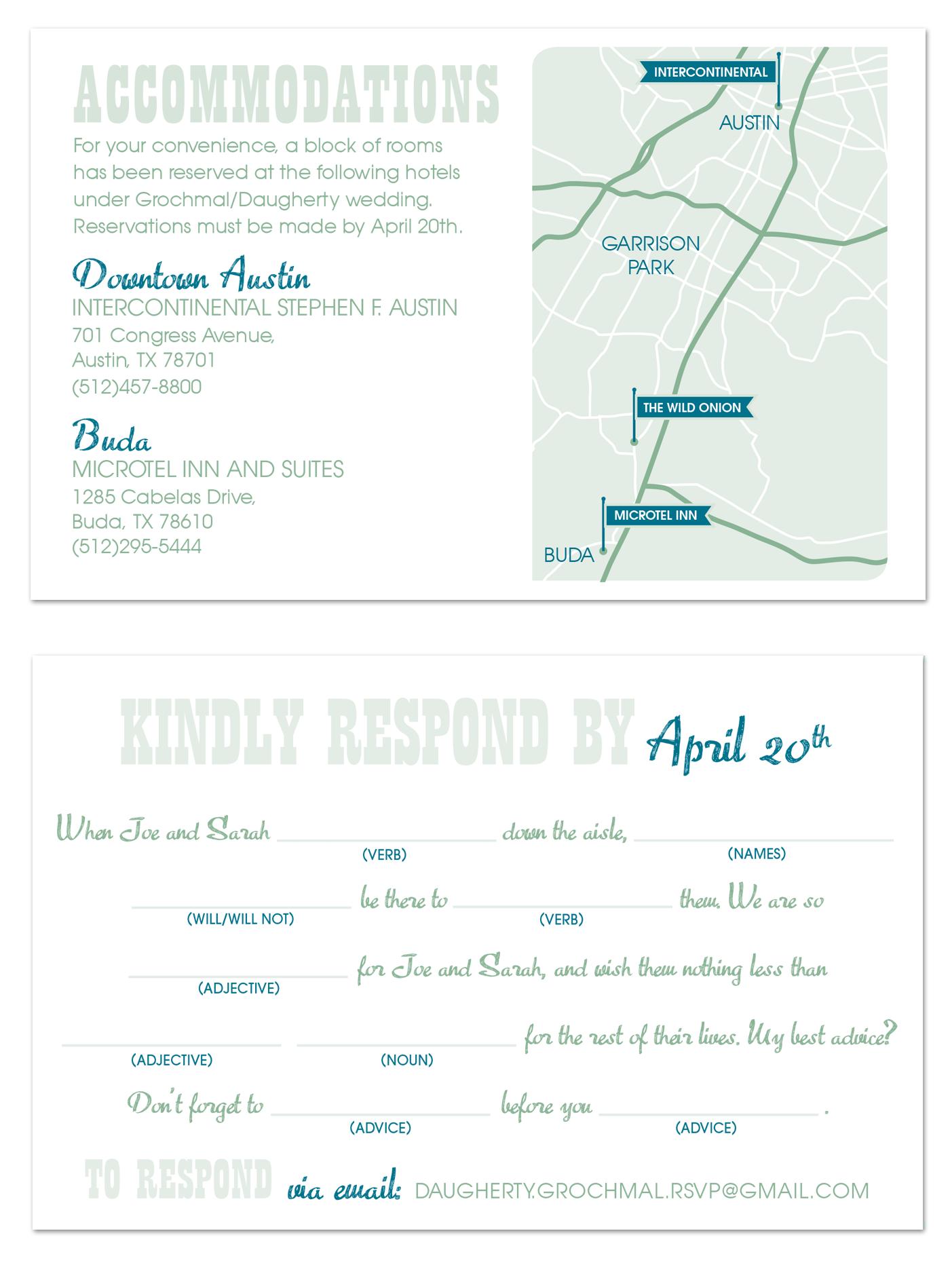 custom wedding invitations for an intimate ceremony in austin tx - Wedding Invitations Austin Tx