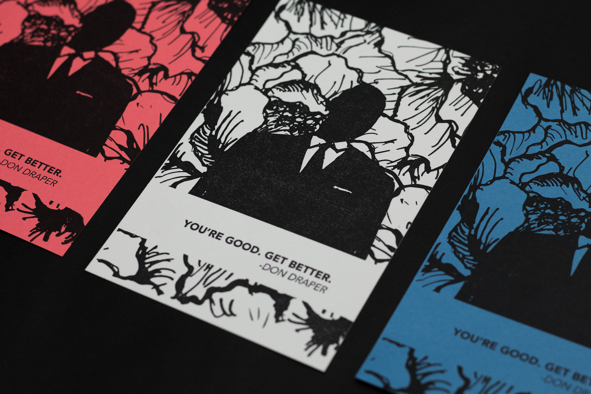 Joanna Bauer - letterpress don draper post card