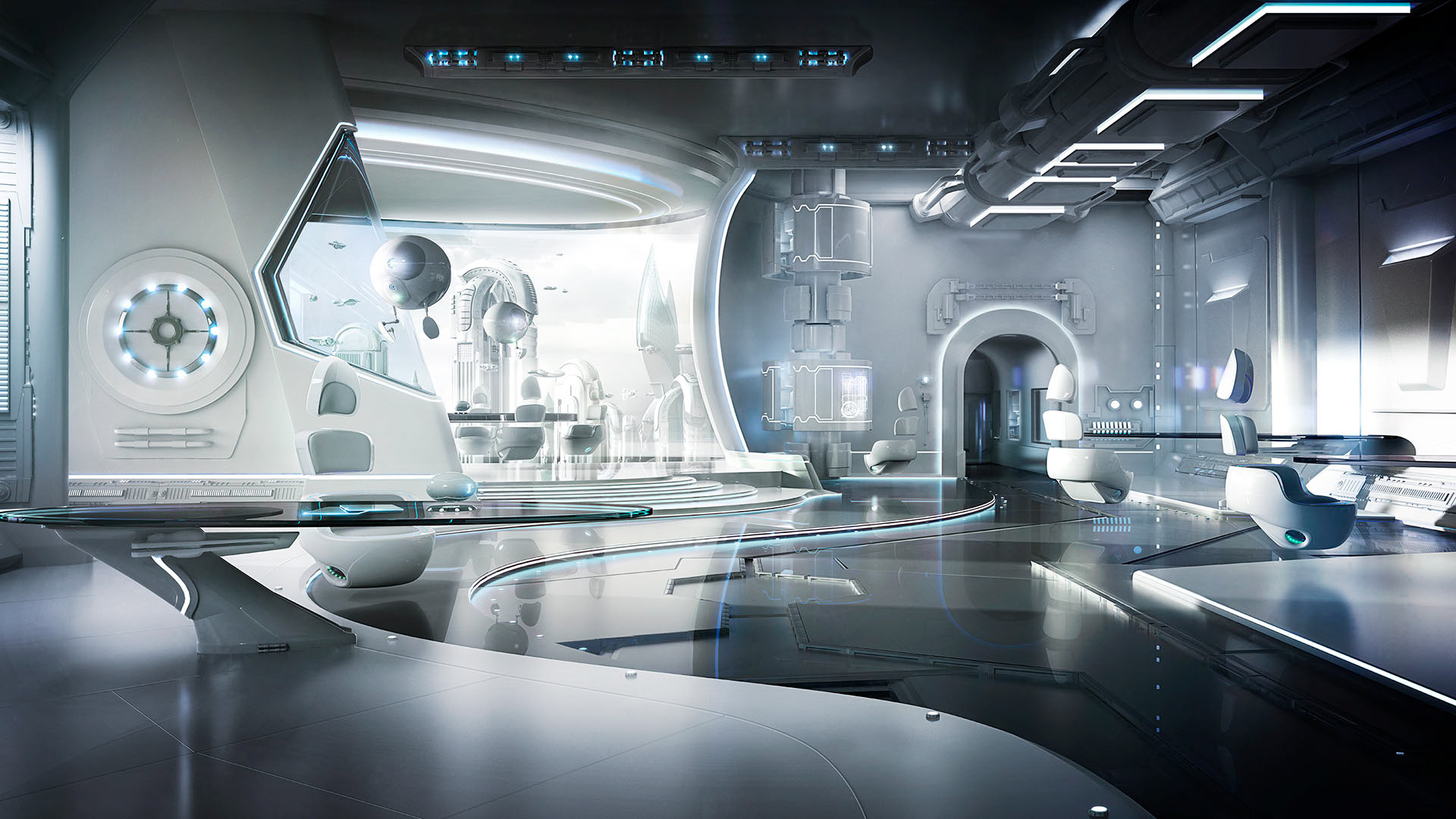 Atomic 14 cgi retouching photography production for Office design of the future