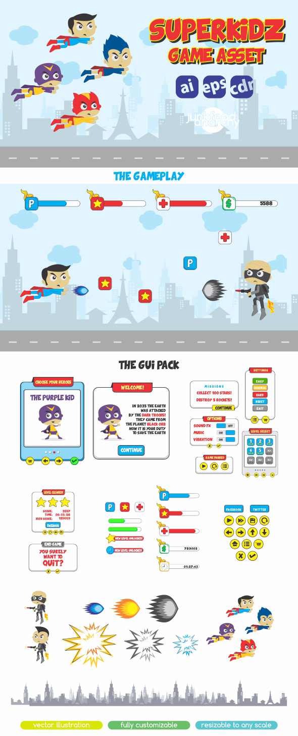Andi Fitriyanto - Zuperkids Game Assets & GUI Pack