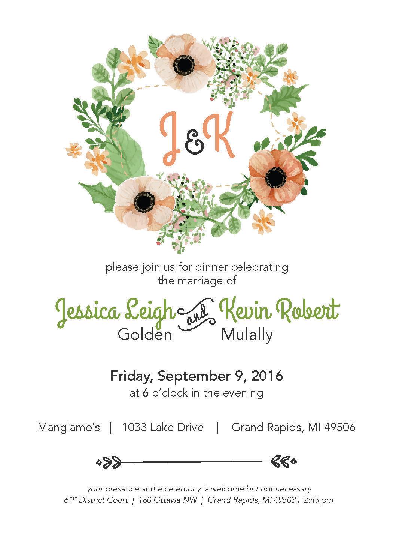 Mindy Dyk - Wedding Invitations