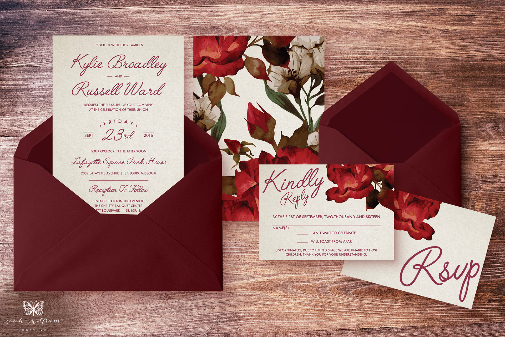 Sarah Wolfrum Creative - Graphic Designer - Wedding Invitations ...