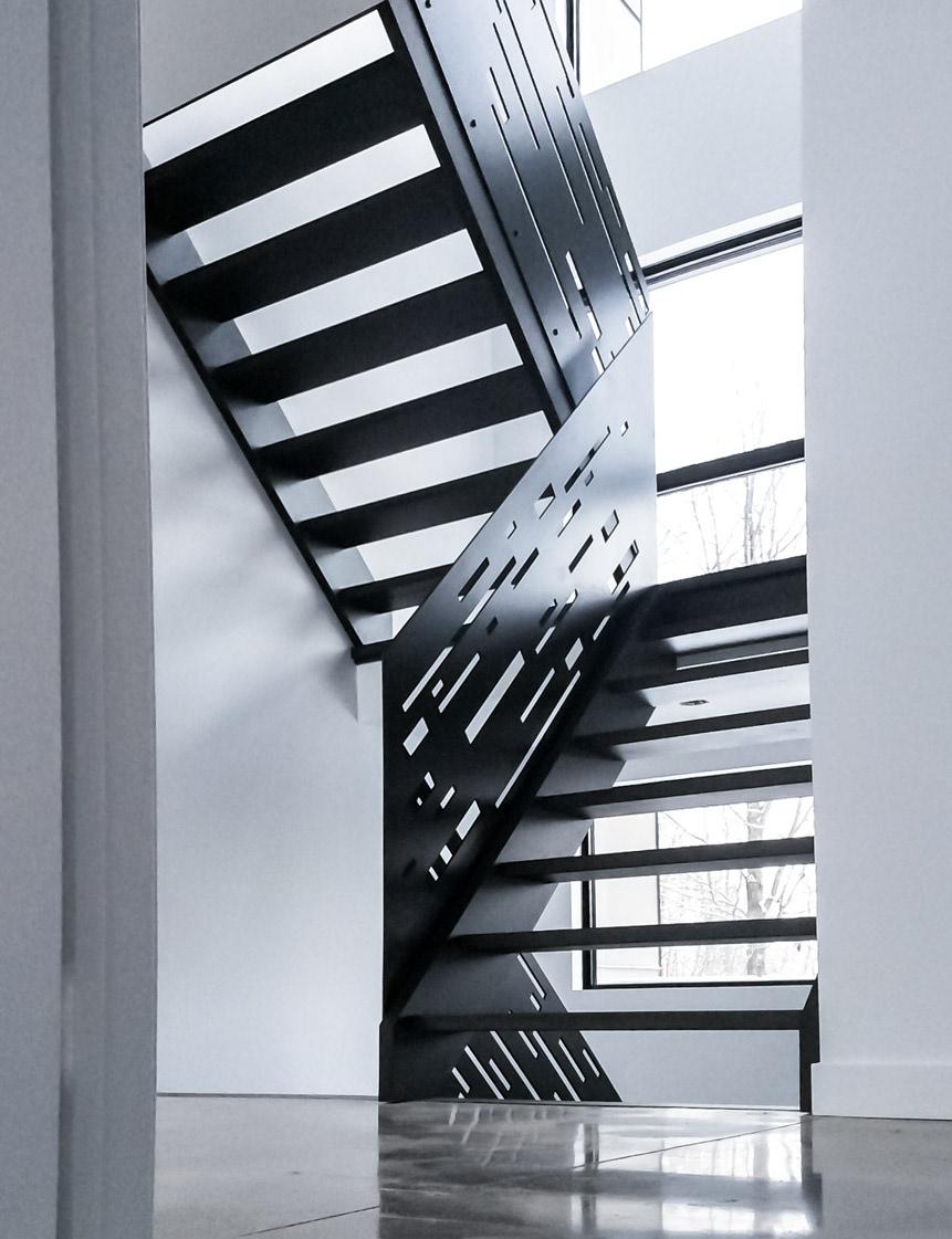 Rampe D Escalier Murale Bois rebellion - rampe d'escalier en acier / steel stair ramp