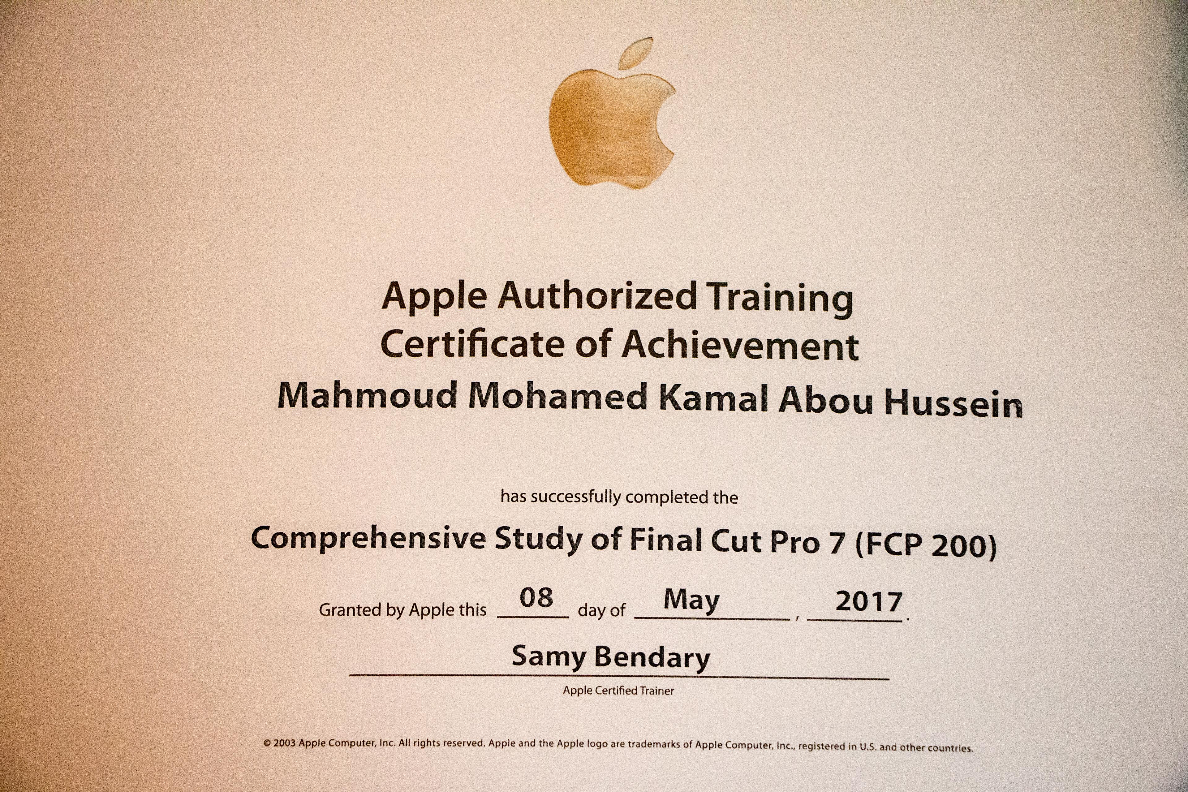 Mahmoud Abo Heussin Final Cut Pro 7