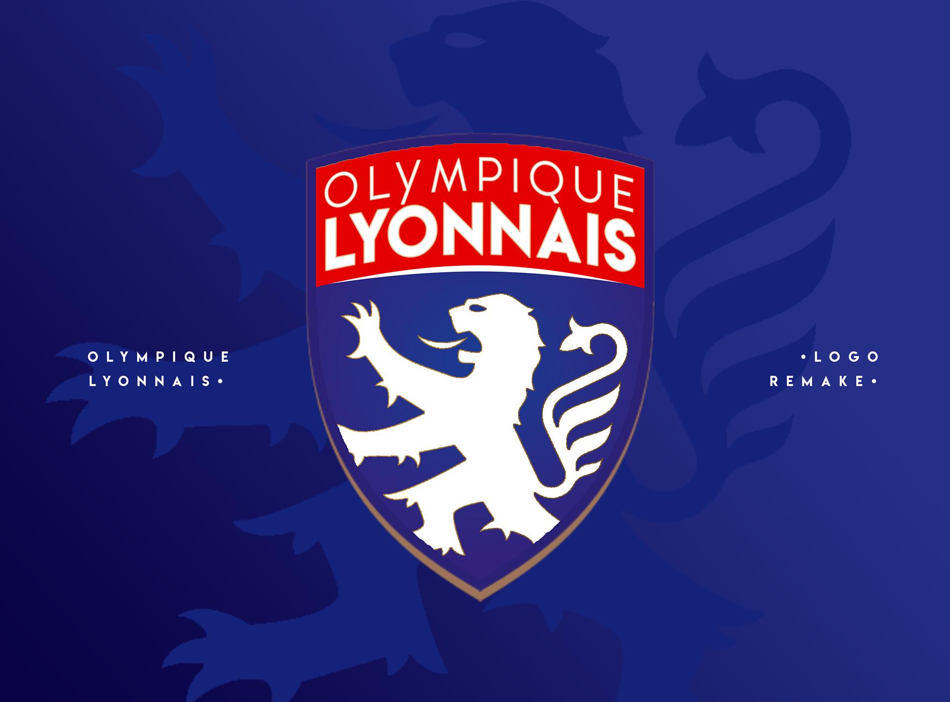 Cosmin becheanu olympique lyonnais logo remake - Logo olympique lyonnais ...