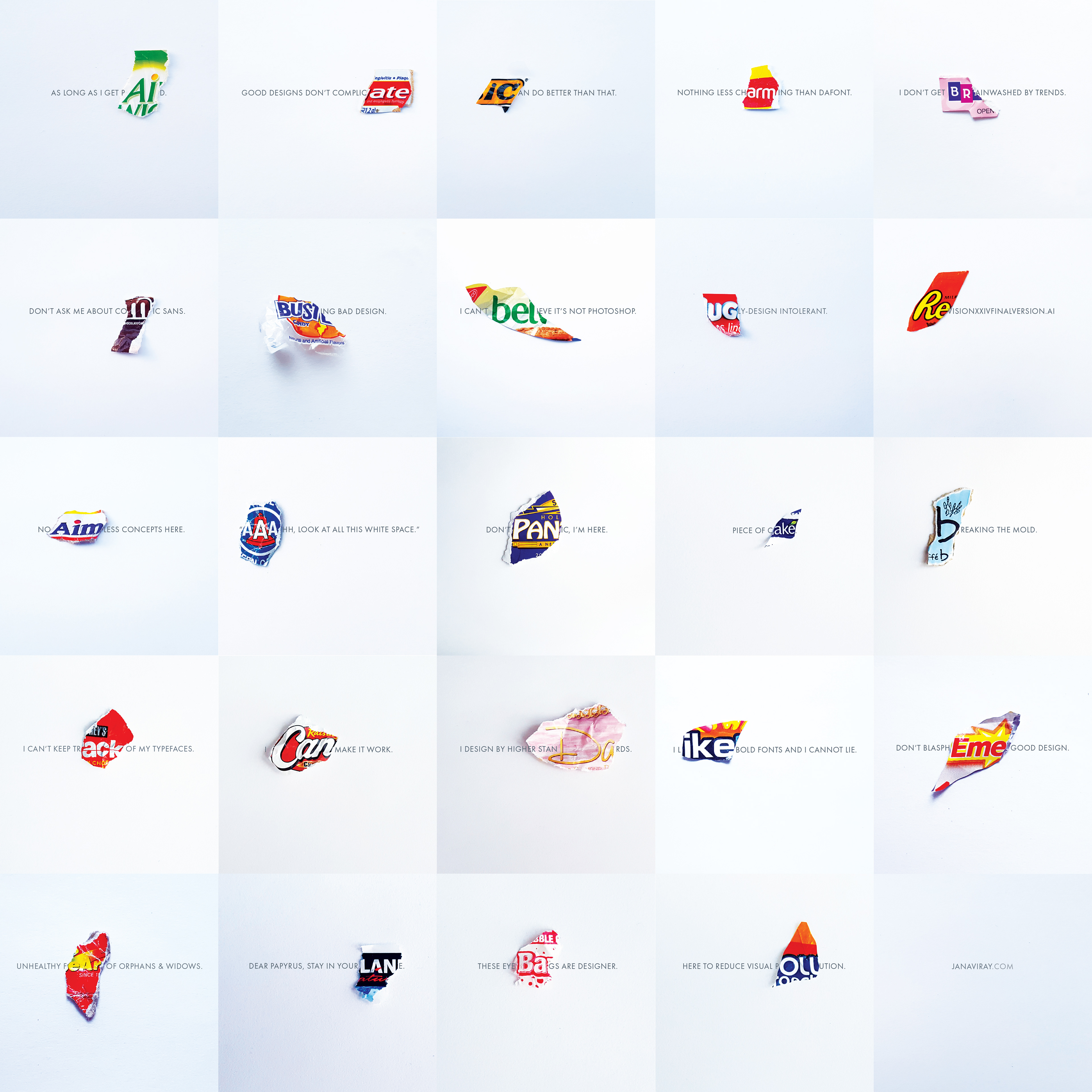 Jana Viray - Experimental Business Cards