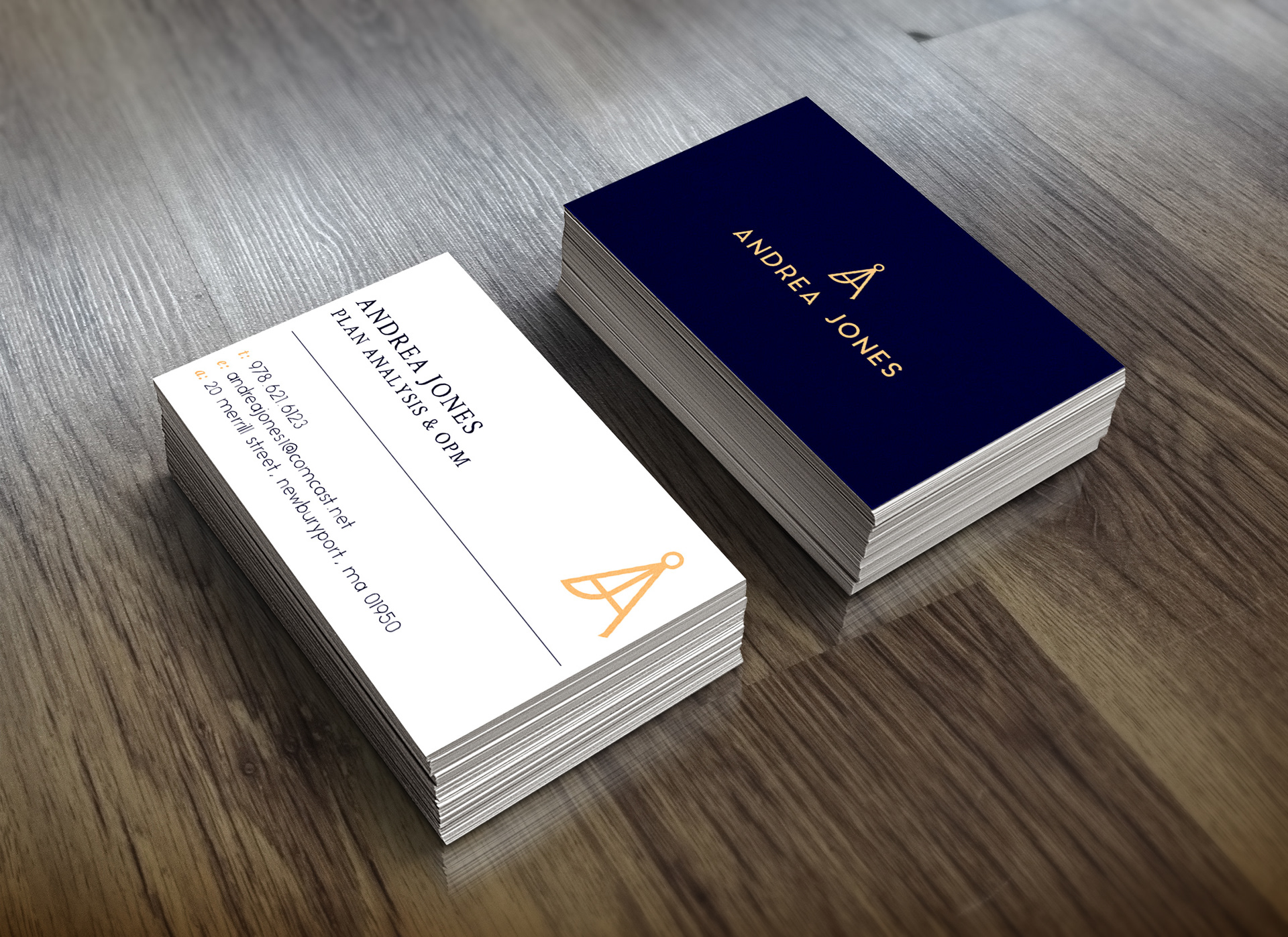 Tricia Jones - Andrea Jones - Logo & Business Card Design