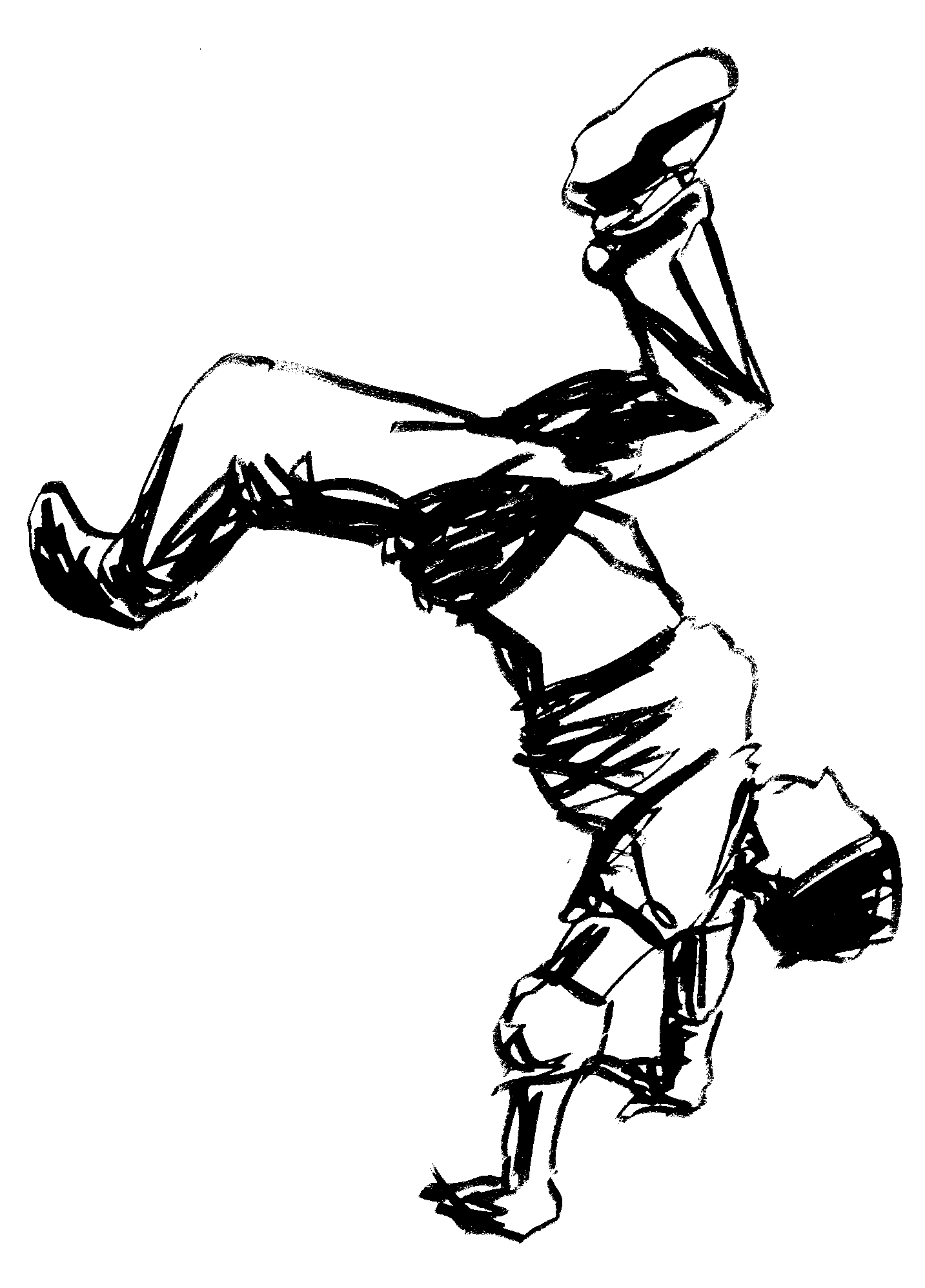 человек танцующий хип-хоп раскраска любом