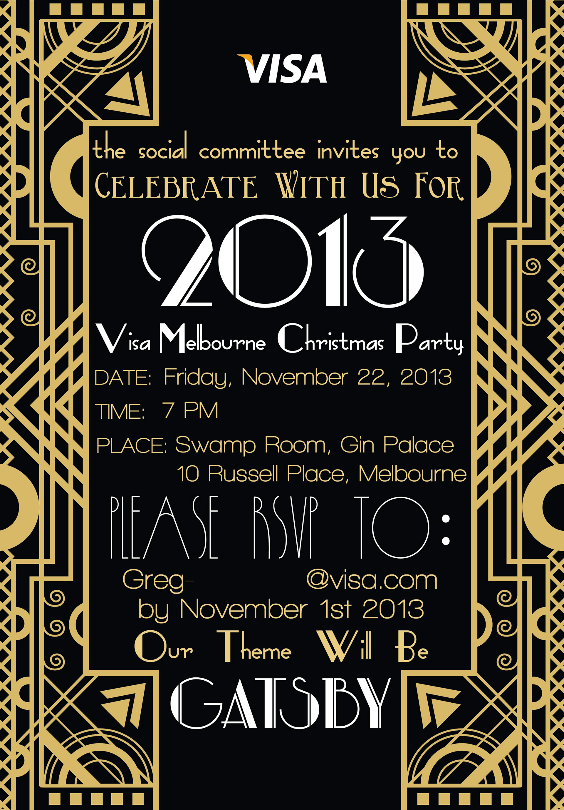 christmas party invitations melbourne : Cogimbo.us