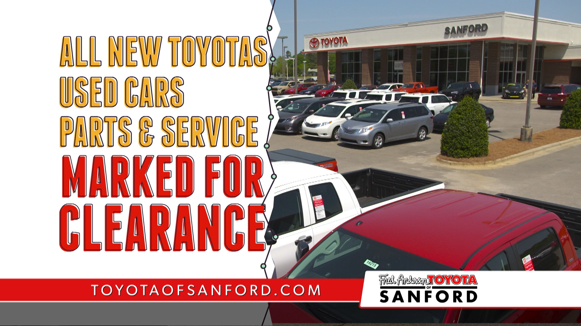 Fred Anderson Toyota National Clearance Event
