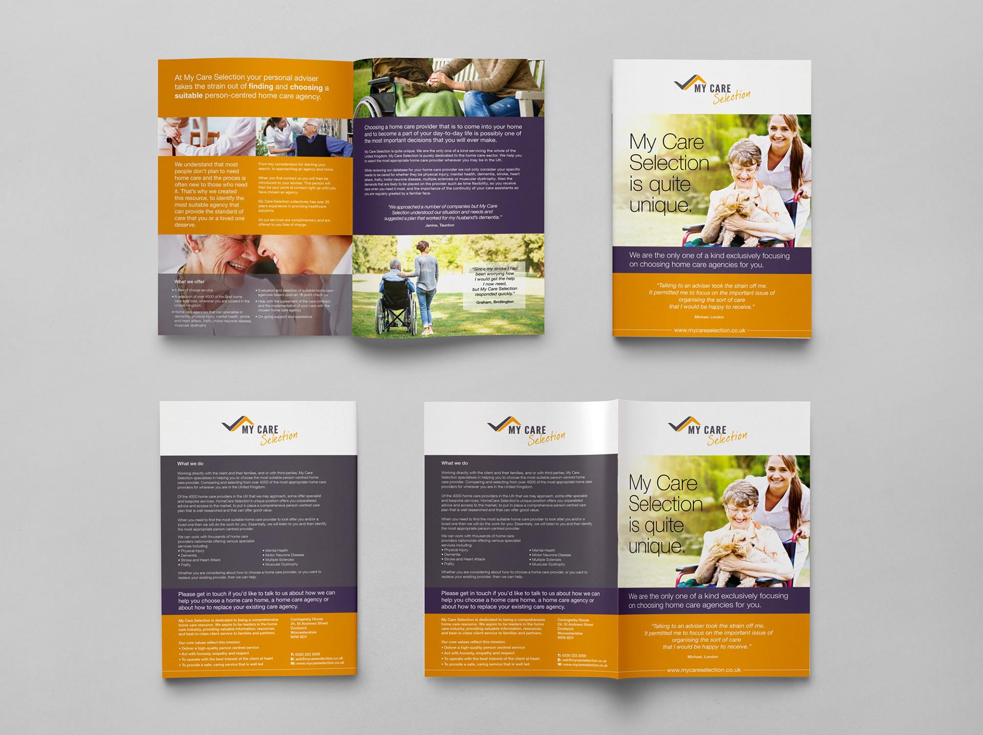Mossom Design - My Care Selection Brochure Design