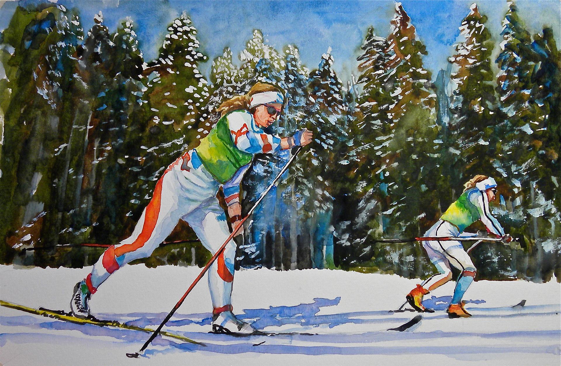 Стихи про лыжников спортсменов свой