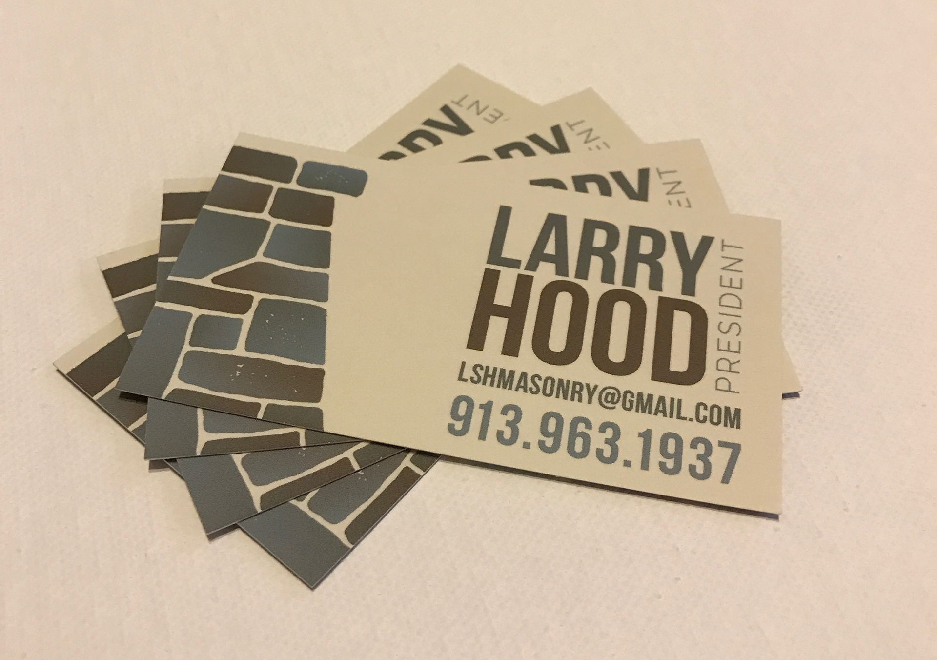 Christopher hickman lsh masonry business card in my opinion its difficult to make a construction look clean and professional but i think this was a great solution for a stone masonry company colourmoves