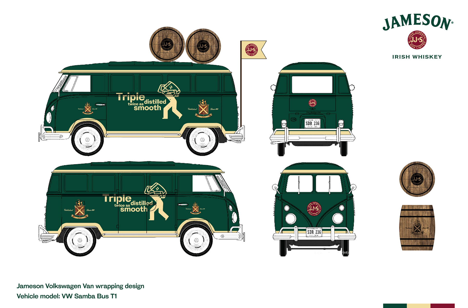 Jameson VW Van By Whiskey Thailand