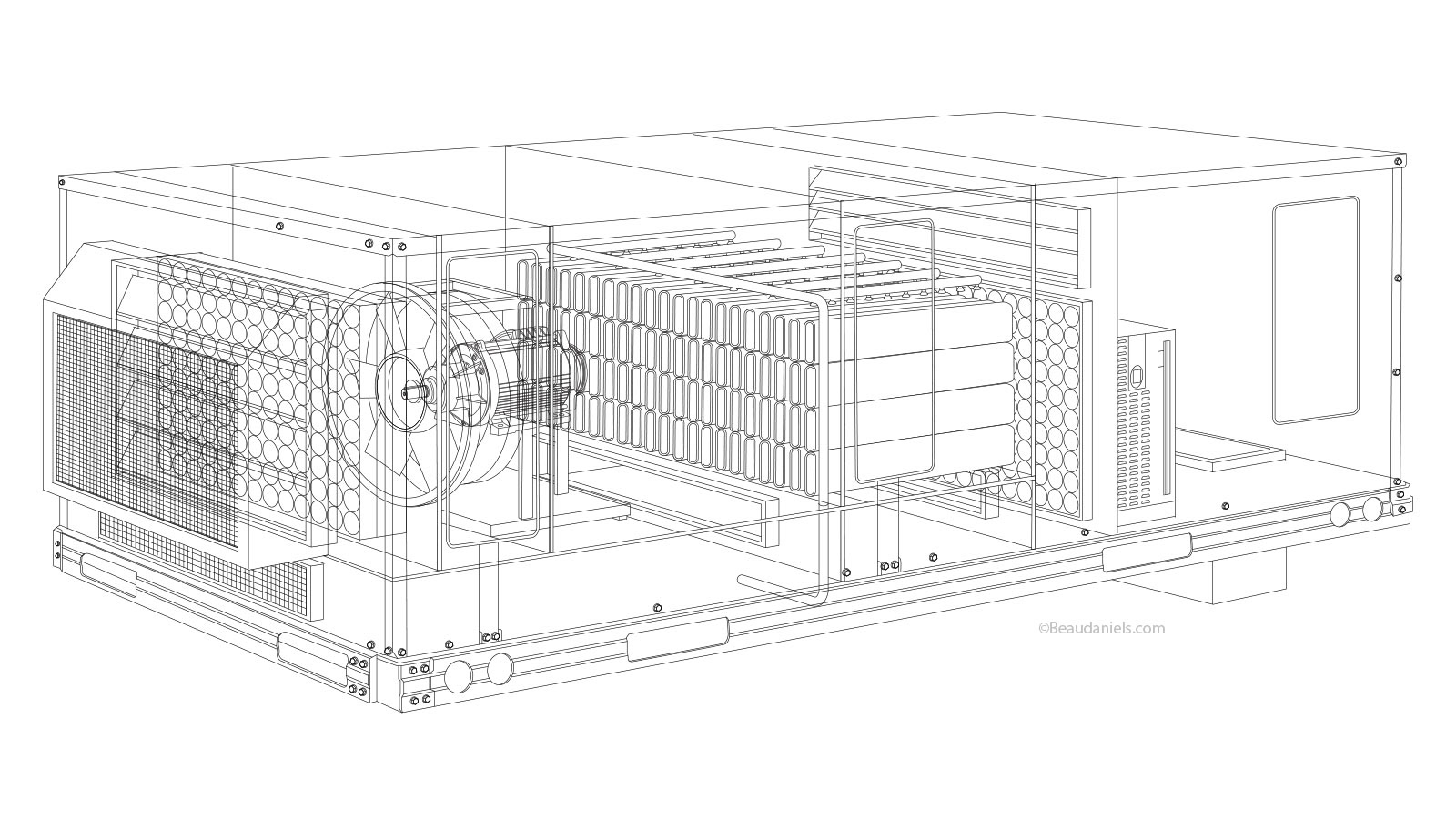 Technical Illustration Beau And Alan Daniels Hvac Animation Drawing For Line Art