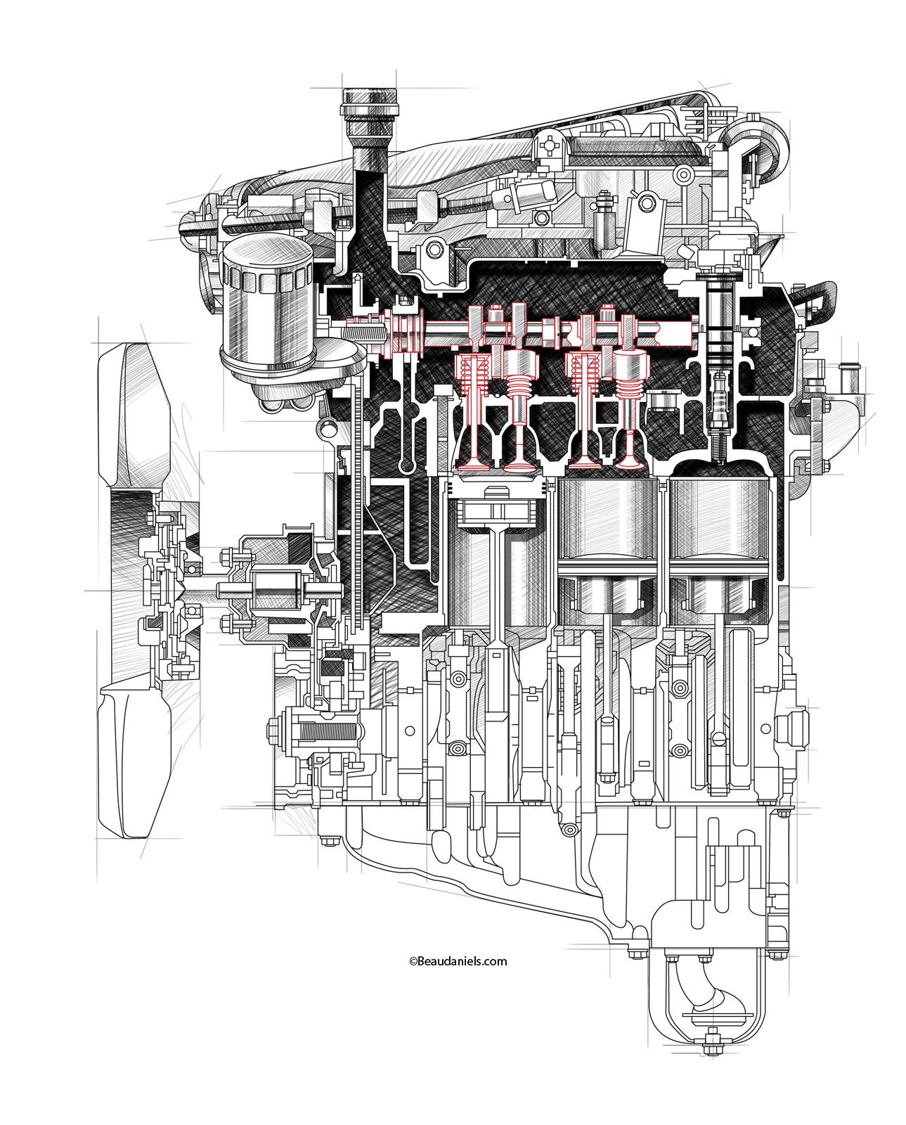 D C B Fecaf F Dbe Rw on Honda Vtec Engine Illustration