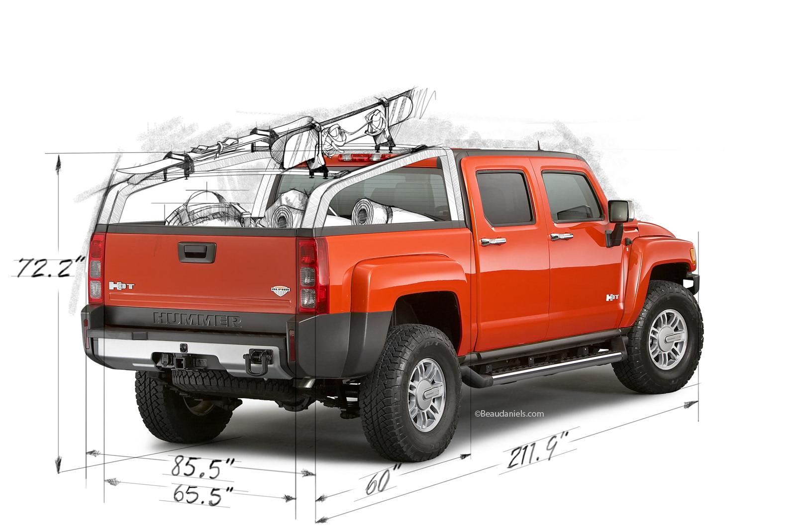 Technical illustration, Beau and Alan Daniels. - Hummer H3T ...