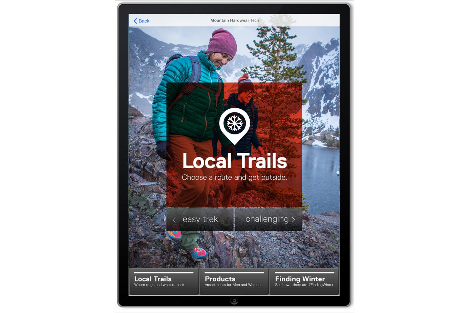 Daniela Nomura Design Portfolio - Mountain Hardwear iPad App