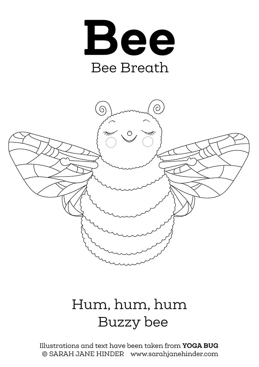 Sarah Jane Hinder - Yoga Bug Colouring/Activity Sheets